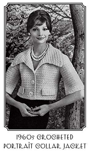 1960s Portrait Collar Jacket Crochet Pattern