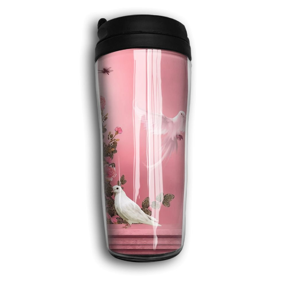 Dove Window Picture Travel Mug Coffee Thermos Stainless Steel Flask Water Bottle