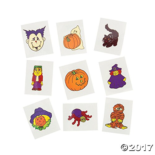 Fun Express Glow-in-The-Dark Temporary Halloween Tattoos | 2-Pack