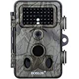 JXWANG Wildlife Trail Camera 12MP 1080P HD Infrared Cam With 120° Wide Angle Lens Detection 42 Pcs Low Glow IR LEDs Digital Surveillance Camera