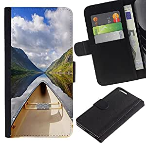 KingStore / Leather Etui en cuir / Apple Iphone 6 PLUS 5.5 / Naturaleza Hermosa Forrest Verde 130