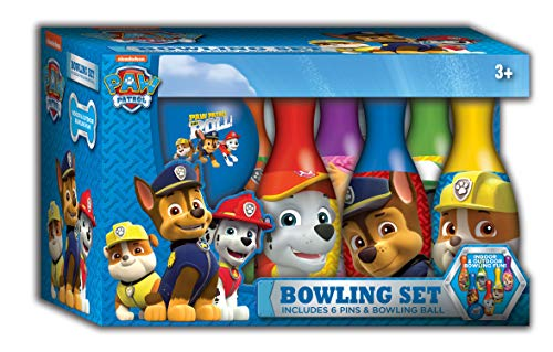 Paw Patrol Toys Indoor Bowling Set with 6 Pins and Bowling Ball Kids Sport Toys