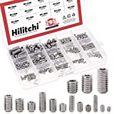 Hilitchi 295Pcs M3/4/5/6/8 304 Stainless Steel Set Screw Assortment with Internal Hex Drive and Cup Point, Metric