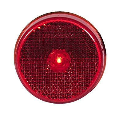 """Maxxima M11256R Red 2.5"""" Round LED Reflectorized Clearance Marker LED Light: Automotive"""
