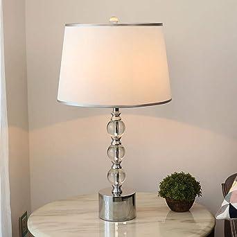 Luz moderna lámpara de mesa de cristal de lujo lámpara de