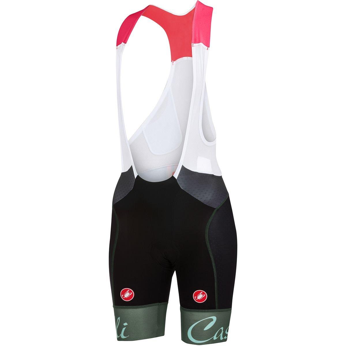 Castelli Free Aero Bib Shorts – Women 's B079C6DGRR Medium|Black/Forest Gray Black/Forest Gray Medium