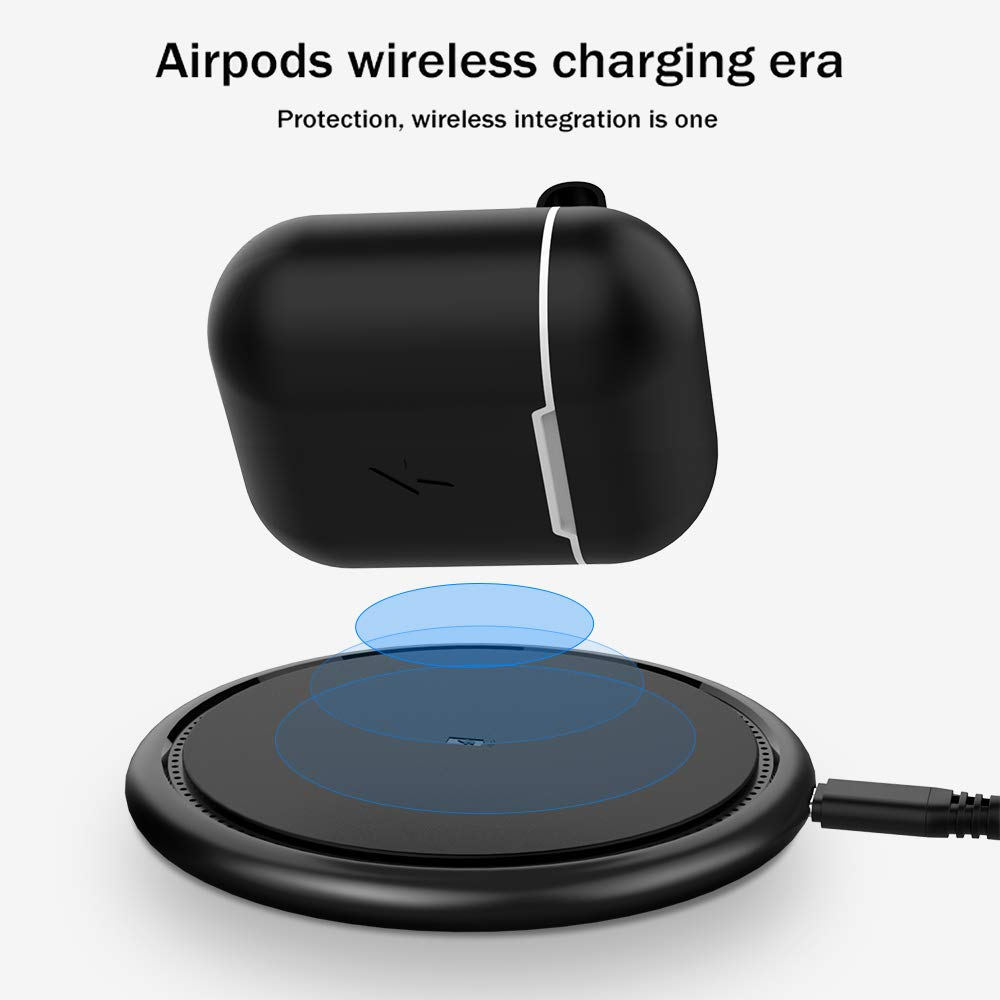 Wireless Charging Case for Airpods,Uverbon Qi Wireless Charger Cover for Airpods Silicone Protective Carrying Case Compatible with Qi Wireless ...