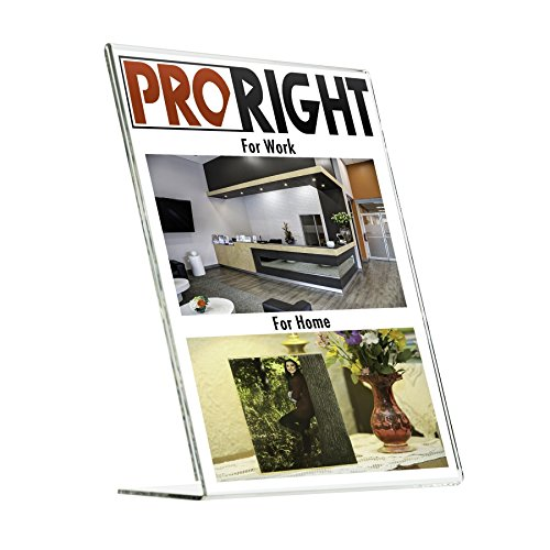 Proright Acrylic Sign Holder 8.5 x 11 (3 Pack) Highest Quality Portrait and Landscape Acrylic Frame Plastic Sign Holder Plastic Frame Flyer Stand Flyer Holder