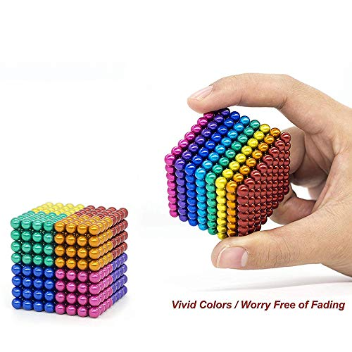 Coolpay 8 Colors 512 Pcs 5MM Big Magnets DIY Toys Magnetic Fidget Blocks Building Blocks for Development of Intelligence Learning and Stress Relief Gift for Adults or Kids by Coolpay (Image #4)