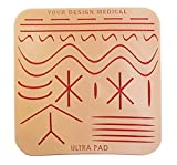 Your Design Medical – 8x8'' Durable UltraPad 3-Layer Suture Pad - 64 Square inches with 28 Wounds -–The Largest Suturing Practice Pad Available! Made in Brooklyn, USA – Access to Free Educational Mate