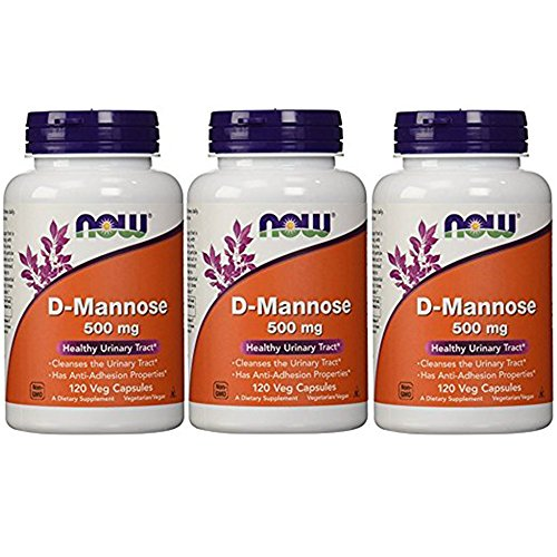 Now Foods D-mannose Healthy Urinary Tract 500 Mg 120 Veg Capsules (Pack of 3) D-mannose 500 Mg Capsule