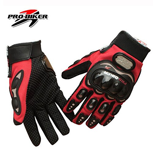 Motorcycle Bike Racing Full Finger Gloves 3 Colors Protective Motocross Gloves Size M /L /Xl/xxl (RED, M)