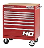 Waterloo PCA-36821RD Professional HD Series 8-Drawer Rolling Tool Cabinet, Red Finish, 36'' W
