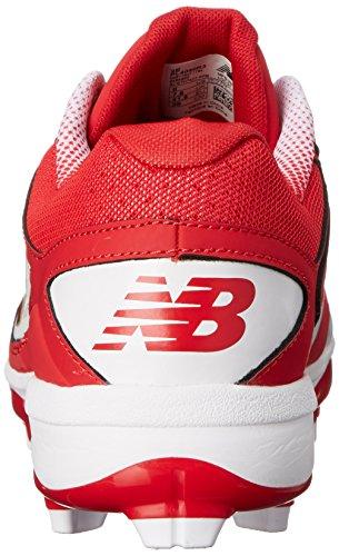 New Balance Mens Pl4040v3 Tpu Baseball Skor Röd / Vit
