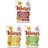 Whisps Cheese Crisps 3 Pack Assortment (2.12oz) Cheddar, Parmesan & Asiago/Pepperjack