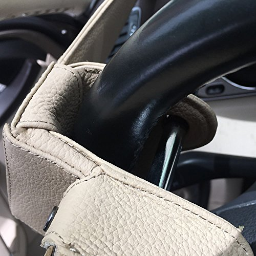 Universal Heavy Duty Car Van Steering Wheel Lock Anti Theft Security Device (Genuine Leather protection) by Keeping (Image #6)