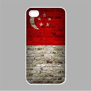 Amazon.com: Flag of Singapore Brick Wall Design iPhone 5