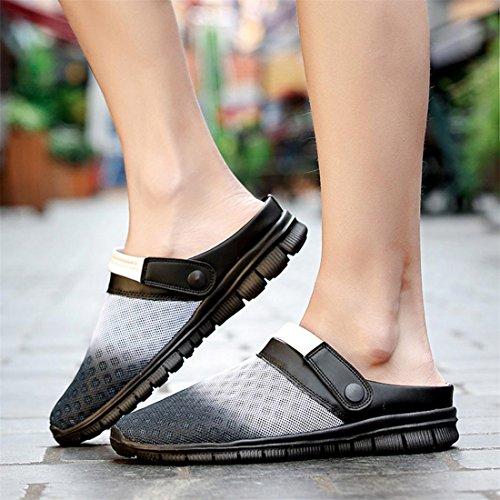 Walking Garten Sommer Mesh Unisex und Breathable Sandalen Grau Herren Clogs Anti Komfortable Damen Malloom® Licht Schuhe Rutsch Super w6HPx0zzq