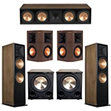 Klipsch 5.2 Walnut System with 2 RF-7 III Floorstanding Speakers, 1 RC-64 III Center Speaker, 2 Klipsch RP-250S Surround Speakers, 2 Klipsch PL-200II Subwoofers