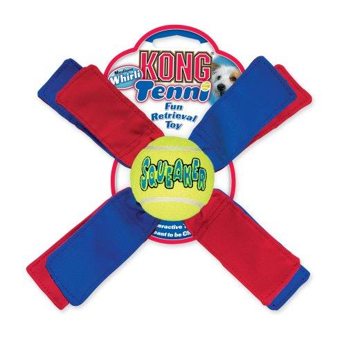 KONG Tenni Whirli Dog Toy, Medium, My Pet Supplies