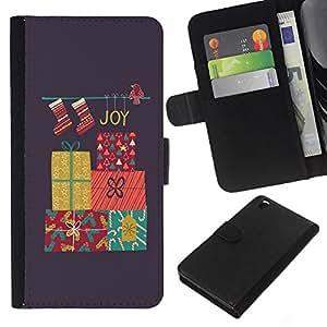 KingStore / Leather Etui en cuir / HTC DESIRE 816 / Feliz Navidad Vacaciones de Invierno Regalos;