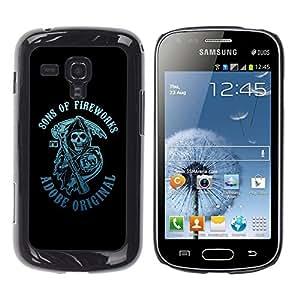 TopCaseStore / la caja del caucho duro de la cubierta de protección de la piel - Sons Of Fireworks Reaper - Samsung Galaxy S Duos S7562