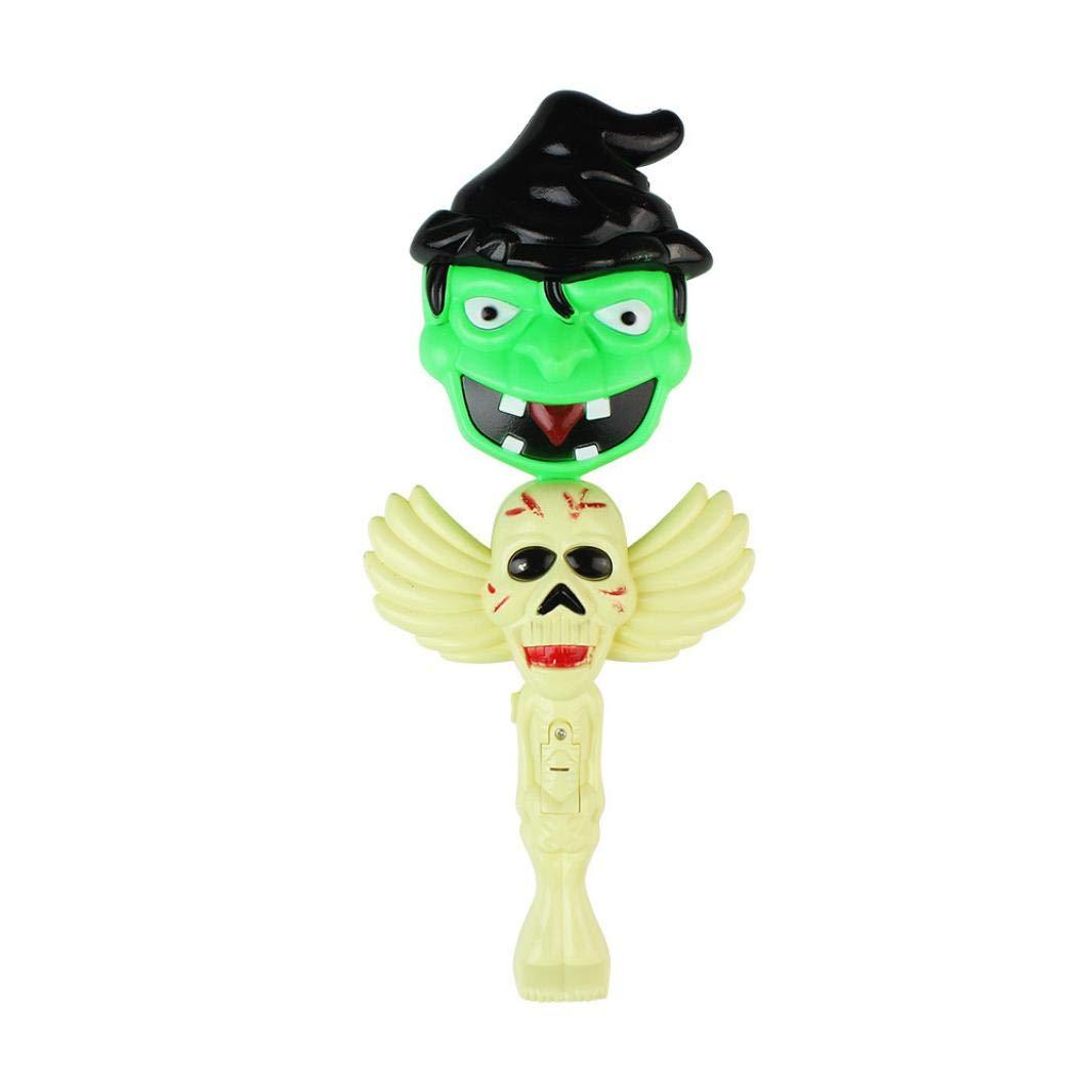 certainPL Halloween Flashing Magic Wand, LED Light Up Glow Wand Glow Stick Halloween Toy for Halloween (C)