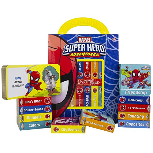 Marvel - Spider-man Super Hero Adventures - My First Library Board Book Block 12-Book Set - Includes Characters from Avengers Endgame - PI Kids