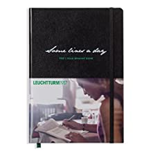 """Leuchtturm1917 Hardcover 5 Year Memory Book """"Some lines a day"""" Black"""