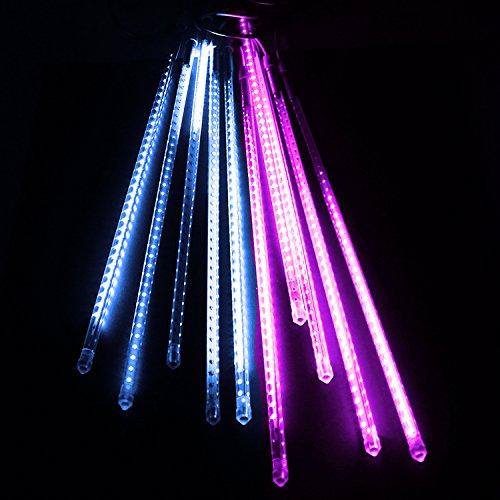 電光ホーム イルミネーション つらら スノーフォール ライト 80cm 10本 (ホワイト&ピンク) B01N3R27CR 16470 ホワイト&ピンク ホワイト&ピンク