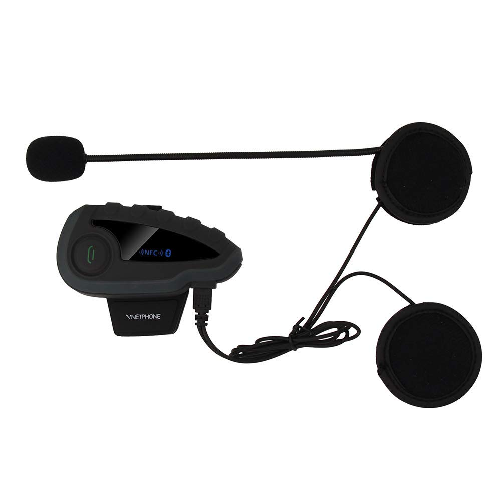 BILLY'S HOME Bluetooth Intercom Headset V8, 1200 Meters Full Duplex Waterproof Intercom Communication System Motorcycle Helmet Bluetooth Headset, GPS, FM, MP3,Phone