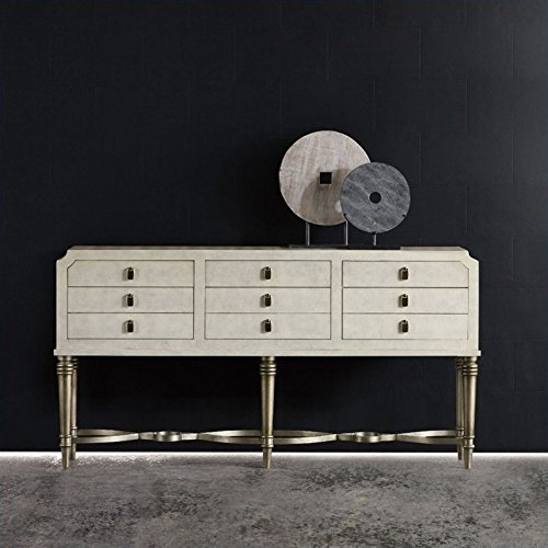 6 drawer accent console table - 6