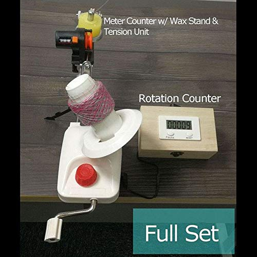 Standard Yarn Ball Winder with Electric Rotation Counter and Meter Length Counter Full Set