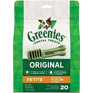 GREENIES Original Petite Natural Dental Care Dog Treats, 12 oz. Pack (20 Treats)
