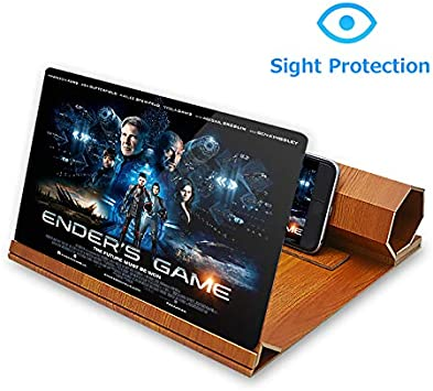 Videos,HD with 3D Screen Magnifying Amplifying Glass for All Smart Phone Model For Movies N//A Phones Screen Amplifier,12inch Foldable Holder Stand Screen Magnifier