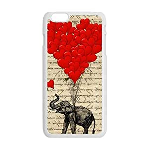 Elephant with Red heart shape balloon Cell Phone Case for iPhone plus 6