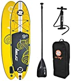 Z-Ray X1 9'9'' All Around SUP Stand Up Paddle Board Package w/Pump, Paddle and Travel Backpack, 6'' Thick