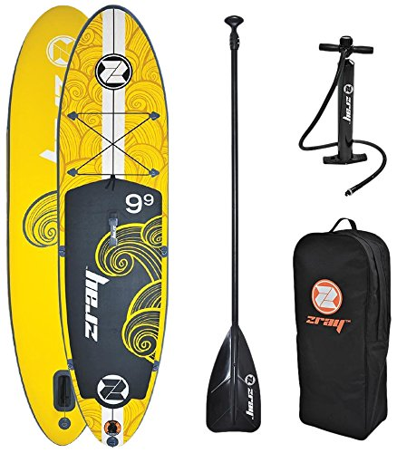 "Z-Ray X1 9'9"" All Around SUP Stand Up Paddle Board Package w/Pump, Paddle and Travel Backpack, 6"" Thick"