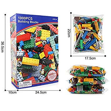 d02238b03 Amazon.com  1000 Pieces Building Blocks Legoing City DIY Creative Bricks  Bulk Friends Toy Model Educational Toys for Children Education Toy Gift Kid  Child  ...