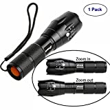 Tactical Flashlight-Tac Light Torch-Best High Lumen Handheld Light with 5 Modes-Adjustable Water-resistant Military Grade Flashlight-Ideal for Outdoors,Home,Emergency,or Gift-Giving