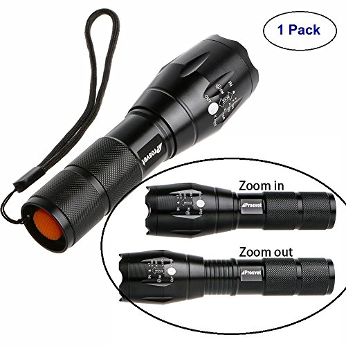 (Tactical Flashlight-Tac Light Torch-Best High Lumen Handheld Light with 5 Modes-Adjustable Water-resistant Military Grade Flashlight-Ideal for Outdoors,Home,Emergency,or Gift-Giving)