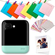 Polaroid Pop 2.0 2 in 1 Wireless Portable Instant 3x4 Photo Printer & Digital 20MP Camera with Touchscreen Display, Built-in