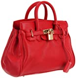 Co-Lab by Christopher Kon Rebecca 1001 Satchel,Red,One Size, Bags Central
