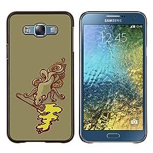 KLONGSHOP // Cubierta de piel con cierre a presión Shell trasero duro de goma Protección Caso - Monster Alcantarillado Pulpo Kraken - Samsung Galaxy E7 E700 //