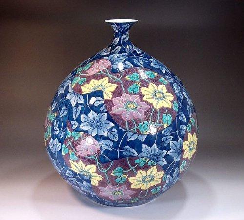 有田焼伊万里焼|花瓶陶器花器壺|贈答品|高級ギフト|記念品|贈り物|色鍋島瓢箪藤井錦彩 B00HVP78XE