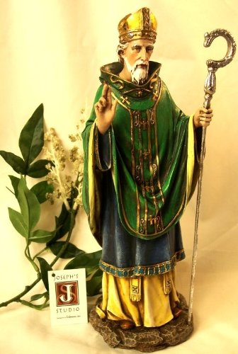 Saint Patrick Day Statue Home Tabletop Figurine Decor