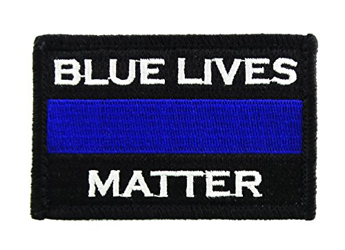 Police Blue Lives Matter Thin Blue Line Hook and Loop Tactical Morale Patch -