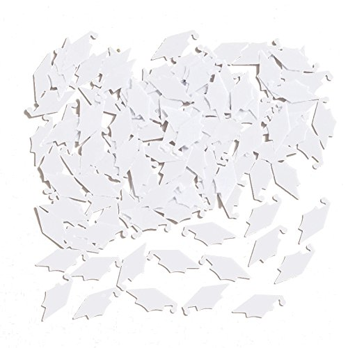 - Creative Converting Graduation Caps Confetti, White