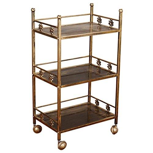 (Three Floors Simple Beauty Salon Hair Salon Bar Restaurant Clinic Trolley Utility Vehicle Load 100 Kg -Tool cart (Color : Antique Copper))
