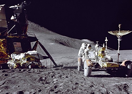 LUNAR ROVER ON THE MOON GLOSSY POSTER PICTURE PHOTO earth planets space mars ()